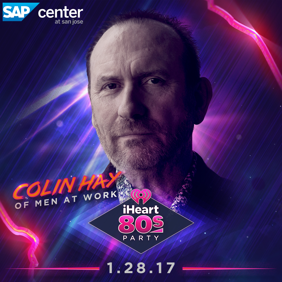 Listen in Live to hear Colin Perform at IHeart80's