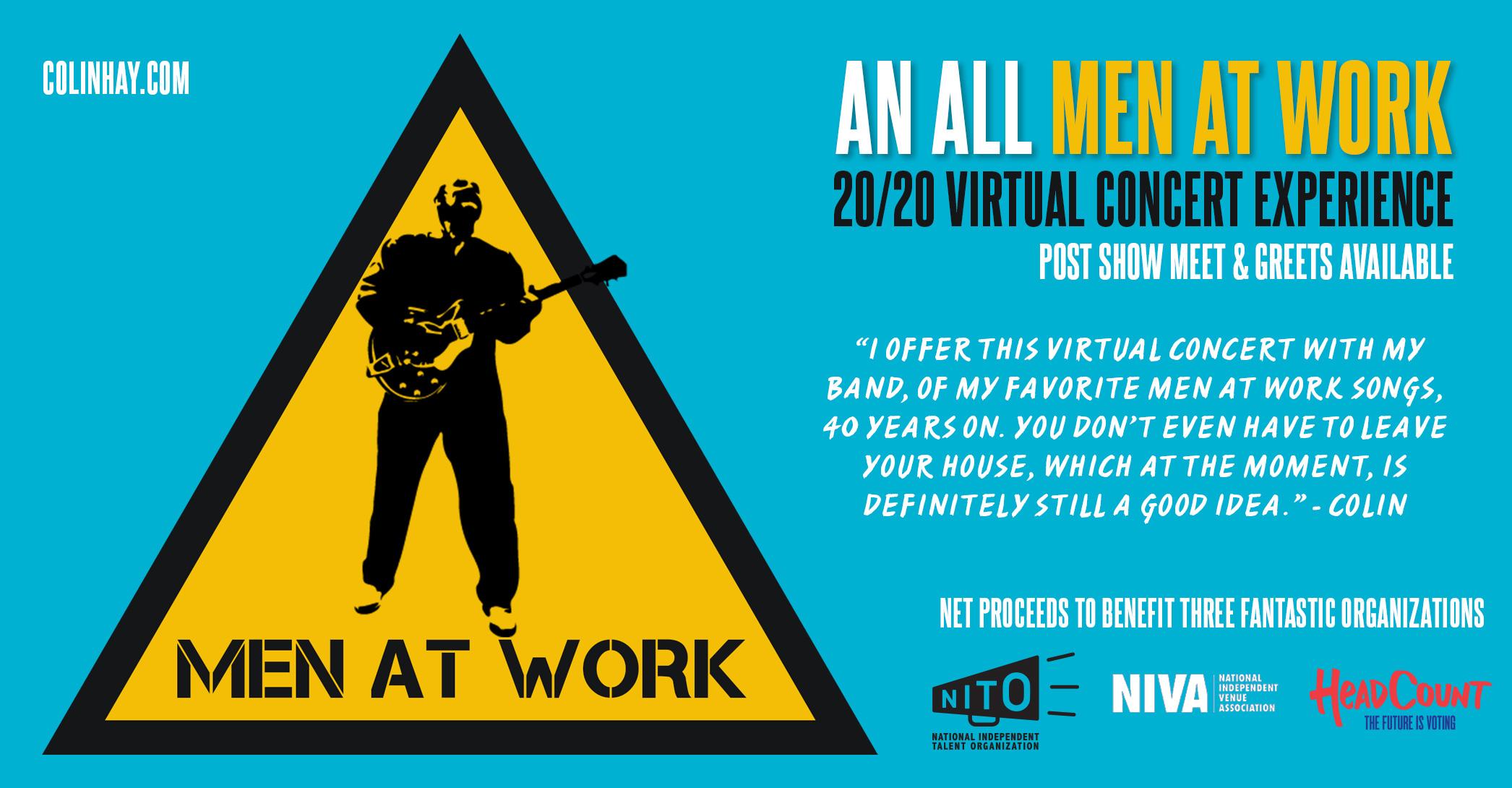 Men at Work 20/20 Virtual Concert Experience (Nov 1, 2020)